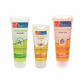 Dr Batra's Face Wash Daily Care With Face Wash Moisturizing And Face Wash Instant Glow Combo Pack