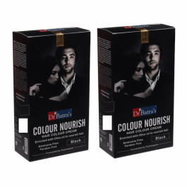Dr Batra's Colour Nourish Hair Colour Cream - Black (Pack of 2)