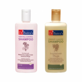 Dr Batra's Dandruff Cleansing Shampoo With HairFall Control Shampoo Combo Pack