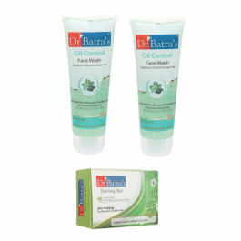 Dr Batra's Face Wash Oil Control With Skin Purifying Bathing Bar Combo Pack