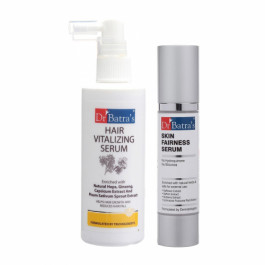 Dr Batra's Hair Vitalizing Serum With Skin Serum Combo Pack