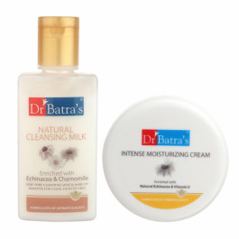 Dr Batra's Natural Cleansing Milk With Intense Moisturizing Cream Combo Pack