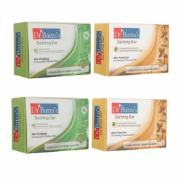 Dr Batra's Skin Purifying Bathing Bar With Skin Protection Bathing Bar Combo Pack