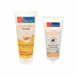 Dr Batra's Sun Protection Cream  With Instant Glow Face Wash Combo Pack