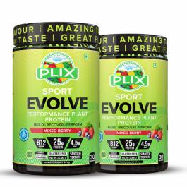 Plix Evolve Performance Plant Protein Powder Wild Berry Flavour, 2kg