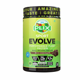 Plix Evolve Performance Plant Protein Powder Chocolate Flavour, 1kg