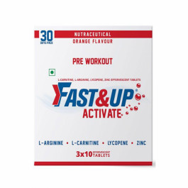 Fast&Up Activate Effervescent (Orange), 30 Tablets