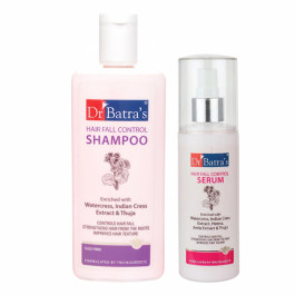 Dr Batra's Hair Fall Control Shampoo With Hair Fall Control Serum Combo Pack