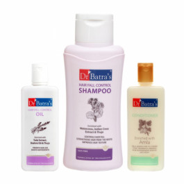Dr Batra's Hair Fall Control Shampoo With Conditioner And Hair Fall Control Oil Combo Pack