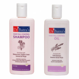 Dr Batra's Hair Fall Shampoo With Hair Fall Oil Combo Pack