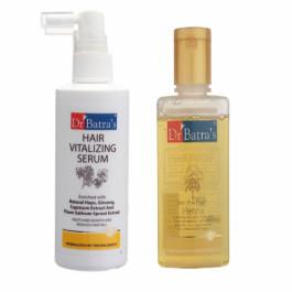 Dr Batra's Hair Vitalizing Serum With Henna Shampoo Combo Pack