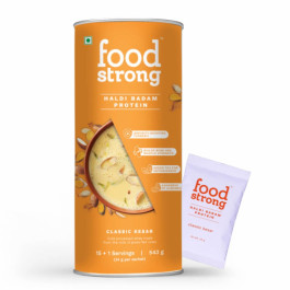 Foodstrong Haldi Badam Protein Classic Kesar, 543gm
