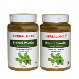 Herbal Hills Brahmi Powder, 100gm (Pack Of 2)