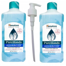 Himalaya PureHands Advanced Disinfectant Hand Rub 80% Alcohol, 500ml+500ml (With Refill Pack)
