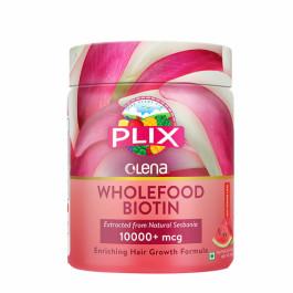Plix Olena Plant-Based Wholefood 10000mcg+ Biotin Watermelon Flavour, 120gm