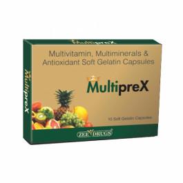 Multiprex Multivitamin & Multiminerals, 10 Capsules