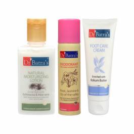 Dr Batra's Natural Moisturising Lotion with Deo For Women And Foot Care Cream Combo Pack