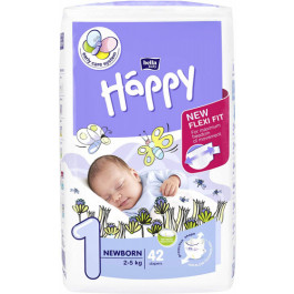 Bella Baby Happy Diapers Newborn, 42 Pieces