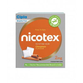 Nicotex 2mg Cinnamon Flavour, Pack of 10