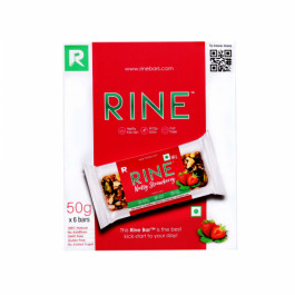 Rine Nutty Strawberry Granola Bar, 50gm (Pack Of 6)