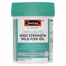 Swisse Ultiboost Odorless High Strength Wild Fish Oil, 60 Tablets