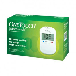 OneTouch Select Simple Glucometer with 10 Strips Free