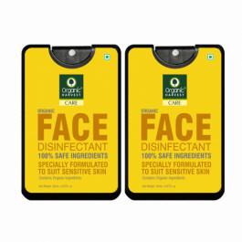 Organic Harvest Face Disinfectant Mist, 20ml  (Pack Of 2)