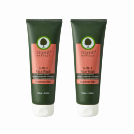 Organic Harvest 6 in 1 Face Wash, 100gm (Pack Of 2)