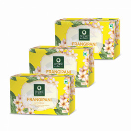 Organic Harvest Frangipani Bathing Bar, 110gm (Pack Of 3)