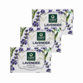 Organic Harvest Lavender Bathing Bar, 110gm (Pack Of 3)