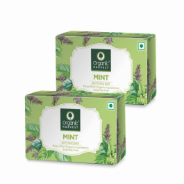 Organic Harvest Mint Bathing Bar, 110gm (Pack Of 2)