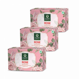 Organic Harvest Rose Bathing Bar, 110gm (Pack Of 3)