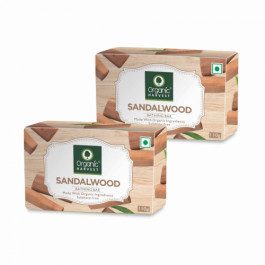 Organic Harvest Sandalwood Bathing Bar, 110gm (Pack Of 2)