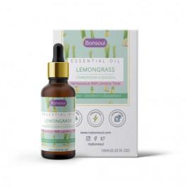 Bonsoul Organic Lemongrass Essential Oil, 10ml