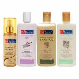 Dr Batra's Dandruff Cleansing Shampoo, Hair Serum, Conditioner, Hair Fall Control Oil