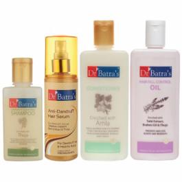 Dr Batra's Anti Dandruff Hair Serum, Conditioner, Hair Oil, and Dandruff Cleansing Shampoo