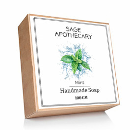 Sage Apothecary Mint Soap, 100gm