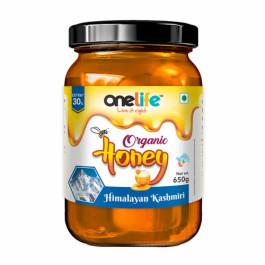 Onelife Himalayan Kashmiri Organic Honey, 650gm