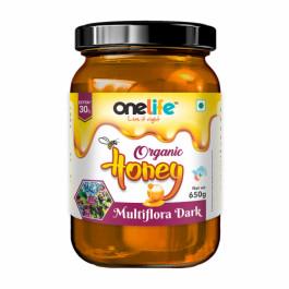 Onelife Multiflora Dark Organic Honey, 650gm