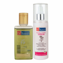 Dr Batra's Hair Fall Control Serum, 125 ml With Hair Oil, 100ml Combo Pack