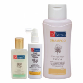 Dr Batra's Hair Vitalizing Serum, 125ml & Conditioner, 100ml with Normal Shampoo, 500ml Combo Pack