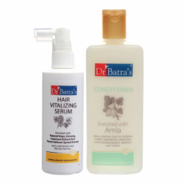 Dr Batra's Hair Vitalizing Serum, 125ml With Conditioner, 200ml Combo Pack