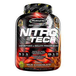 Muscletech Nitro Tech Whey Protein Peptides & Isolate Milk Chocolate, 1.81kg
