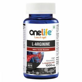 Onelife L-Arginine Nitric Oxide Booster, 60 Tablets