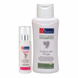 Dr Batra's Hair Fall Control Serum, 125ml With Dandruff Cleansing Shampoo, 500ml Combo Pack