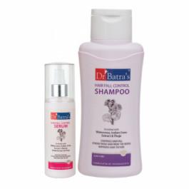 Dr Batra's Hair Fall Control Serum, 125ml With Hair Fall Control Shampoo, 500ml Combo Pack