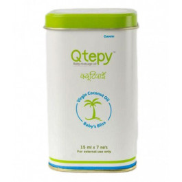 Qtepy Baby Massage Oil, 7x15ml