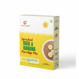 Nutribud Foods Sprotued Ragi & Banana Porridge Mix, 200gm