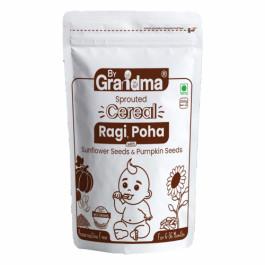 ByGrandma Sprouted Ragi, Poha With Sunflower Seeds & Pumpkin Seeds Baby Porridge Mix, 280gm