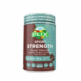Plix Sport Strength Vegan Post Workout Chocolate Flavour Protein Powder, 500gm